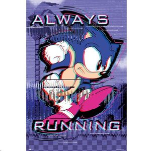 POSTER SONIC ALWAYS RUNNING 61 X 91 CM