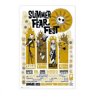 POSTER DISNEY PESADILLA ANTES DE NAVIDAD SUMMER FEAR FEST 61 X 91 CM