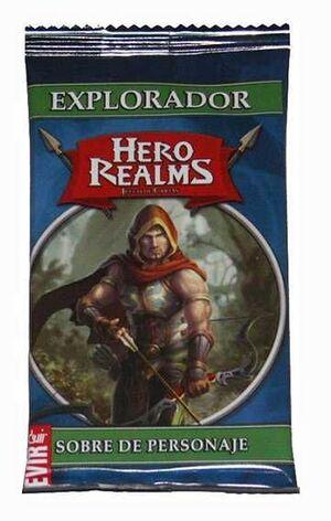 HERO REALMS. SOBRE DE PERSONAJES: EXPLORADOR