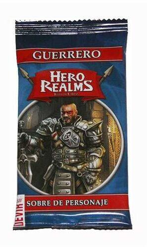 HERO REALMS. SOBRE DE PERSONAJES: GUERRERO