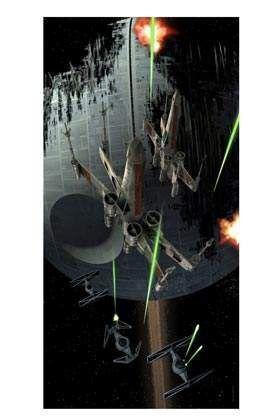STAR WARS POSTER DE VIDRIO 50X25 CM CAZA TIE VS ALA-X