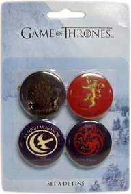 (NEX) GAME OF THRONES SET A 4 PINS GAME OF THRONES