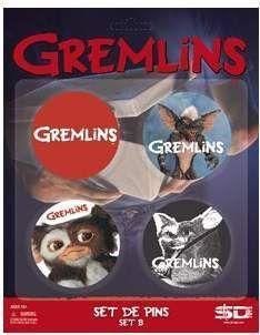 (NEX) GREMLINS SET B DE 4 PINS GREMLINS