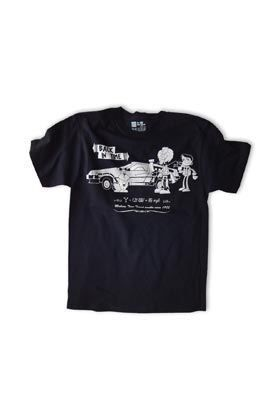 MISTER BLACK TEE BACK IN TIME CAMISETA NEGRA UNISEX T-XL