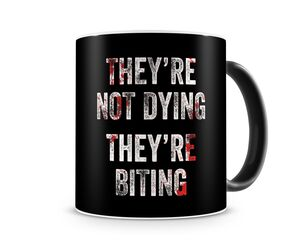 WORLD WAR Z NOT DYING BITING TAZA CERAMICA