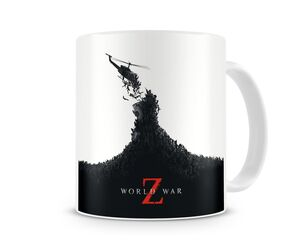 WORLD WAR Z HELICOPTERO Y ZOMBIES TAZA CERAMICA