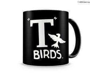 GREASE LOGO T-BIRDS TAZA NEGRA CERAMICA