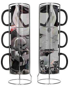 STAR WARS EP7 SET 3 TAZAS APILABLES STORMTROOPERS