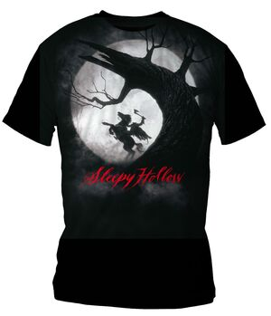 SLEEPY HOLLOW CAMISETA NEGRA CHICO T-XXL POSTER SLEEPY HOLLOW