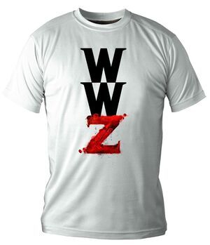 WORLD WAR Z CAMISETA BLANCA CHICO T-XXL LOGO