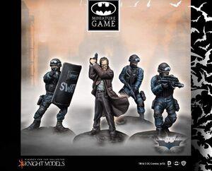 BATMAN MINIATURE GAME: COMMISSIONER GORDON & SWAT TEAM