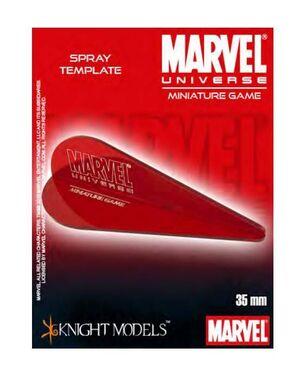 MARVEL UNIVERSE MINIATURE GAME: SPRAY TEMPLATE