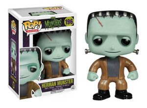 THE MUNSTERS FIGURA 10 CM VINYL POP HERMAN MUNSTER