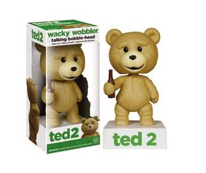TED 2 CABEZON CON SONIDO 15 CM TALKING TED R RATED WACKY WOBBLER