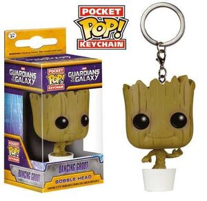 GUARDIANES DE LA GALAXIA LLAVERO 4 CM POCKET POP DANCING GROOT