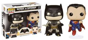 BATMAN VS SUPERMAN PACK 2 FIG 9 CM METALLIC BATMAN & SUPERMAN VINYL POP