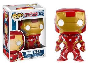 IRON MAN CABEZON 10 CM MARVEL CIVIL WAR VINYL POP!