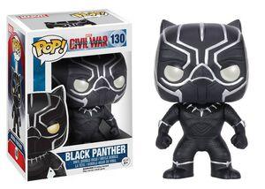 BLACK PANTHER CABEZON 10 CM MARVEL CIVIL WAR VINYL POP!