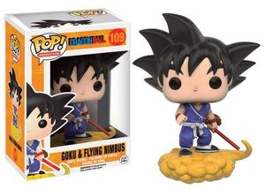 DRAGON BALL Z FIG 10CM VINYL POP GOKU Y NUBE KINTON