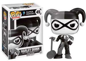 HARLEY QUINN FIGURA 9 CM VINYL POP DC COMICS BLACK & WHITE SERIES