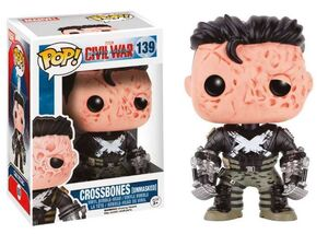 CAPITAN AMERICA CIVIL WAR FIGURA 10 CM CROSSBONES UNMASKED VINYL POP