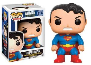 BATMAN THE DARK KNIGHT RETURNS FIGURA 9 CM SUPERMAN VINYL POP