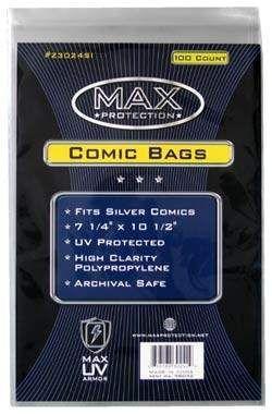 BOLSAS PARA COMICS MAX PROTECTION SILVER (100)