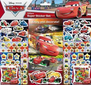 CARS. SUPER STICKER SET 500 PEGATINAS