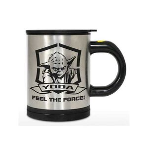 STAR WARS TAZA QUE SE AUTO REMUEVE YODA FEEL THE FORCE