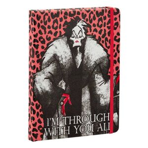DISNEY VILLAINS NOTEBOOK CRUELLA DE VIL
