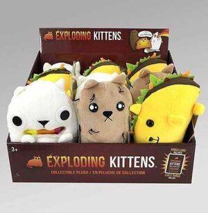 EXPLODING KITTENS PELUCHE ZIPPER 18CM