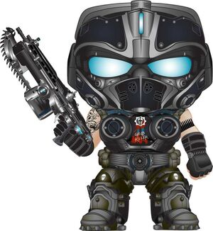 GEARS OF WAR FIGURA 9 CM CLAYTON CARMINE VINYL POP