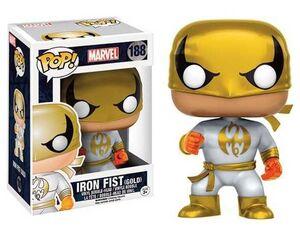IRON FIST WHITE AND GOLD SUIT POP VINYL 9CM