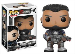 GEARS OF WAR POP VINYL FIG 9CM DOMINIC SANTIAGO