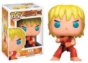 STREET FIGHTER FIGURA 9 CM KEN (SPECIAL ATTACK) VINYL POP