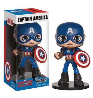 CAPITAN AMERICA CIVIL WAR CABEZON 16 CM CAPITAN AMERICA WACKY WOBBLER
