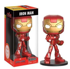 CAPITAN AMERICA CIVIL WAR CABEZON 16 CM IRON MAN WACKY WOBBLER