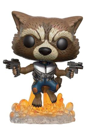 GUARDIANES DE LA GALAXIA FIGURA 9 CM ROCKET RACCOON VINYL POP