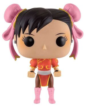 STREET FIGHTER FIGURA 10 CM CHUN-LI RED OUTFIT VINYL POP