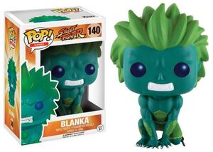STREET FIGHTER FIGURA 9 CM BLANKA GREEN VINYL POP