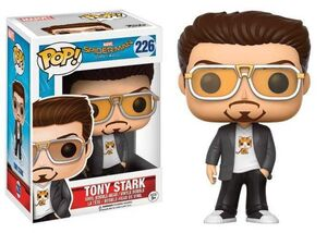 SPIDER-MAN HOMECOMING FIGURA 9 CM TONY STARK VINYL POP