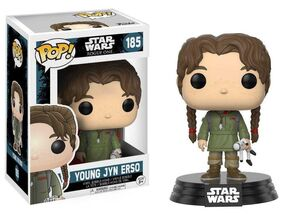 STAR WARS ROGUE ONE CABEZON 9 CM YOUNG JYN ERSO VINYL POP! FUNKO 185