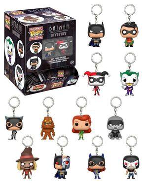 BATMAN THE ANIMATED SERIES LLAVERO 5 CM DC POCKET POP! (SURTIDO)
