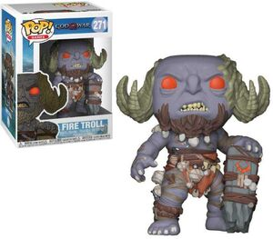 GOD OF WAR FIGURA 9 CM FIRE TROLL VINYL POP! FUNKO 271