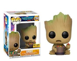 GUARDIANES DE LA GALAXIA 2 FIGURA 9 CM GROOT & CANDY BOWL POP! FUNKO 264