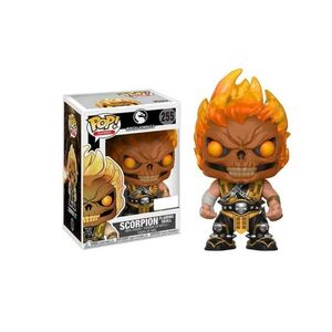 MORTAL KOMBAT FIGURA 9 CM SCORPION FLAMING SKULL VINYL POP! FUNKO 255