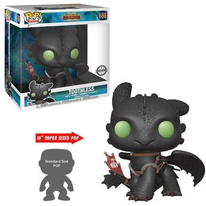 COMO ENTRENAR A TU DRAGON 3 FIG 25CM POP SUPER SIZED TOOTHLESS