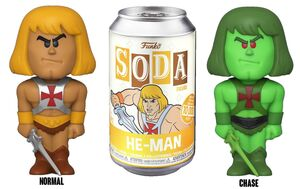 VINYL SODA FIGURE 11CM MASTERS OF THE UNIVERSE - HE-MAN CON CHASE
