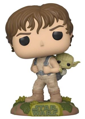 STAR WARS FIG 9CM POP LUKE CON YODA 40 ANIV IMPERIO CONTRAATACA