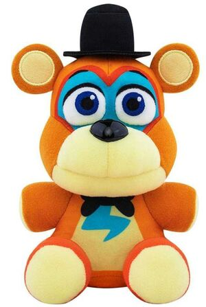 FIVE NIGHTS AT FREDDYS SECURITY BREACH PELUCHE 15CM GLAMROCK FREDDY